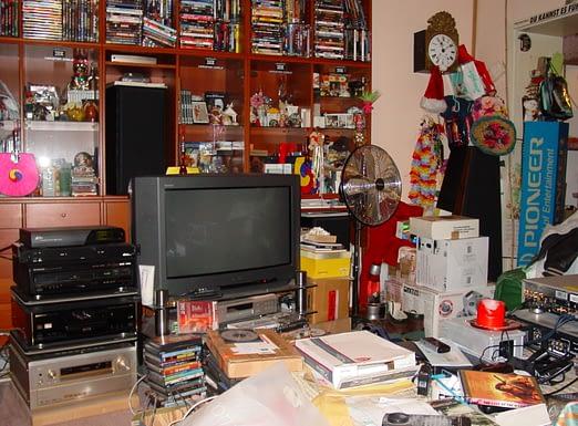 a neatly organized room